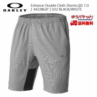 オークリー クロス ショートパンツ OAKLEY Enhance Double Cloth Shorts.QD 7.0 442286JP 022 BLACK WHITE