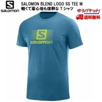 SALOMON サロモン Tシャツ BLEND LOGO SS TEE M ブルー