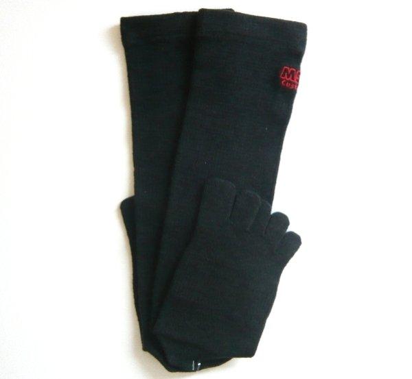 画像3: 5本指 スキーソックス 薄手 ハイソックス 吸汗速乾 抗菌防臭加工 5本指ソックス 日本製