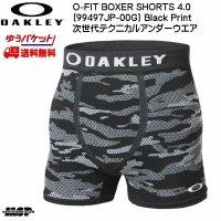 オークリー ボクサーパンツ OAKLEY O-FIT BOXER SHORTS 4.0 アンダーウェア ブラックプリント