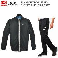 オークリー トレーニング ジャケット パンツ セットアップ ブラック Enhance Technical Jersey Jacket 9.7&Pants9.7