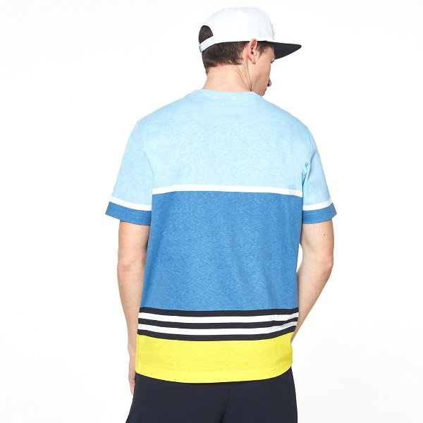 画像2: オークリー Tシャツ ブルーイエロー OAKLEY Striped 1975 SS TEE Blue Yellow Color Block