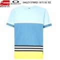 オークリー Tシャツ ブルーイエロー OAKLEY Striped 1975 SS TEE Blue Yellow Color Block