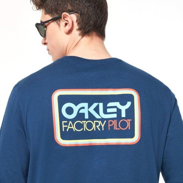 画像2: オークリー ロング Tシャツ 長袖 ネイビー OAKLEY  FACTORY PILOT LS TEE  UNIVERSAL BLUE