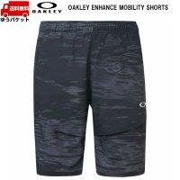 オークリー ウーブン ショートパンツ ブラックプリント OAKLEY ENHANCE MOBILITY SHORTS BLACK PRINT