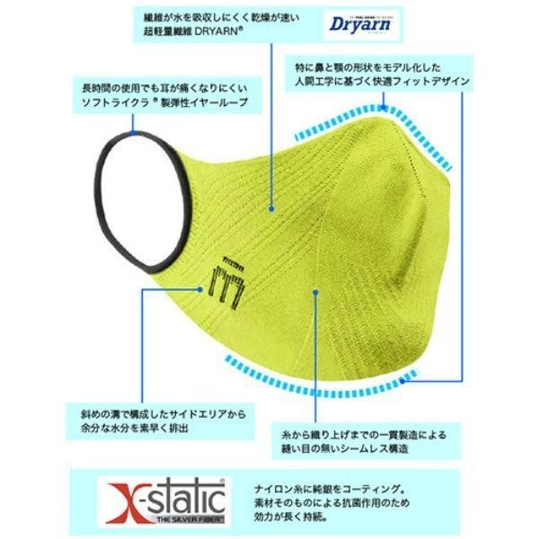 画像2: ミコ スポーツマスク 抗菌 速乾 立体設計 伸縮 超軽量 シームレス MICO P4P MASK