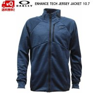 オークリー トレーニング ジャージ ジャケット ネイビー ENHANCE TECH JERSEY JACKET 10.7 BLACK IRIS
