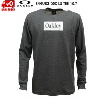 オークリー ロング Tシャツ 長袖 ダークグレー ヘザー ENHANCE QDC LS TEE 10.7 DARK GREY HTHR