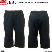 オークリー クロス ウーブン クロップドパンツ 3/4 クォーター ネイビー OAKLEY ENHANCE MOBILITY QUARTER PANTS 2.0 FATHOM 6AC