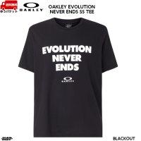 オークリー コットン Tシャツ ブラック OAKLEY EVOLUTION NEVER ENDS SS TEE