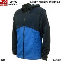オークリー クロス ウーブン ジャケット ブルー ネイビー OAKLEY ENHANCE MOBILITY JACKET 2.0 ozone 62T