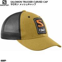 サロモン メッシュキャップ トラッカーカーブド キャップ ブラック SALOMON TRUCKER CURVED CAP CUMIN BLACK