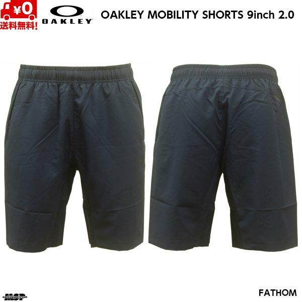 画像2: オークリー クロス ウーブン ショートパンツ ネイビー OAKLEY ENHANCE MOBILITY SHORTS 9INCH 2.0 FATHOM 6AC