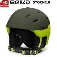 ご予約商品 ブリコ スキー ヘルメット ストーム 2.0 ヘムロック サルファースプリング カーキ BRIKO STORM 2.0