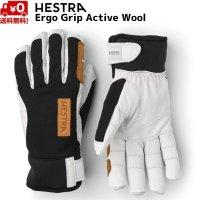 ご予約商品 ヘストラ スキーグローブ 薄手 エルゴ グリップ アクティブ ウール ブラック HESTRA ERGO GRIP ACTIVE WOOL Black