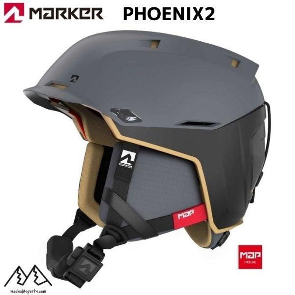 画像1: マーカー スキー ヘルメット フェニックス2 ブラック サンド MARKER PHOENIX2 MAP