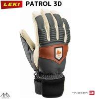 ご予約商品 レキ トリガーS スキー グローブ パトロール3D グラファイト オフホワイト マロンLEKI PATROL 3D