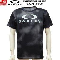 オークリー Tシャツ ブラック プリント OAKLEY ENHANCE QD SS TEE GRAPHIC 11.7 BLACK PRINT