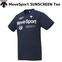 デサント DESCENTE MoveSport サンスクリーン ハーフスリーブシャツ Tシャツ ネイビー H/S Shirts DMMRJA60 NV 半袖